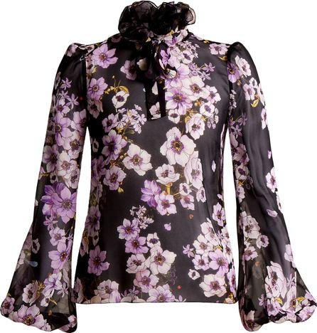 Giambattista Valli Anemone silk-georgette blouse
