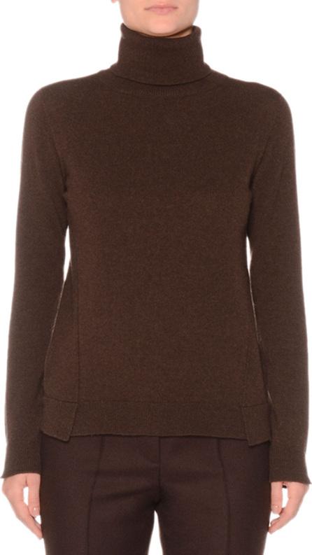 Agnona Eternal Cashmere Long-Sleeve Turtleneck Sweater, Brown