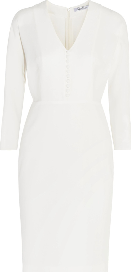 Max Mara Button-detailed silk-crepe dress