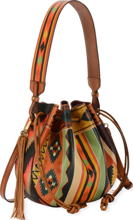Etro Southwestern-Print  Leather Bubble Bag