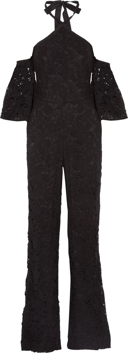 Noir Sachin & Babi Wilhelmina cold-shoulder cotton-lace jumpsuit