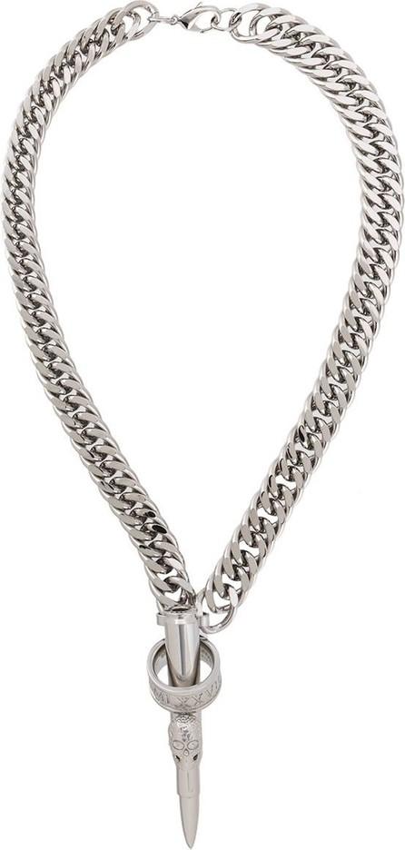Philipp Plein Skull pin necklace