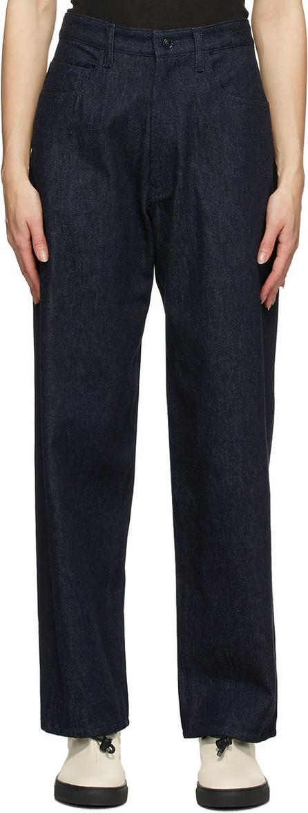 Y's By Yohji Yamamoto Navy U-Side Stripe Jeans