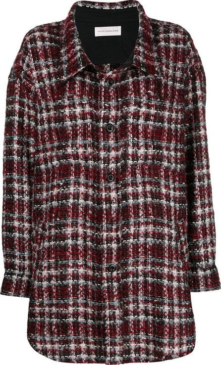 Faith Connexion checked oversized shirt