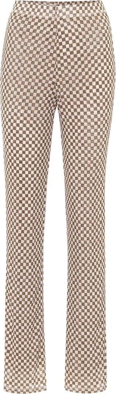 Nanushka Yogi high-rise mesh-jersey pants