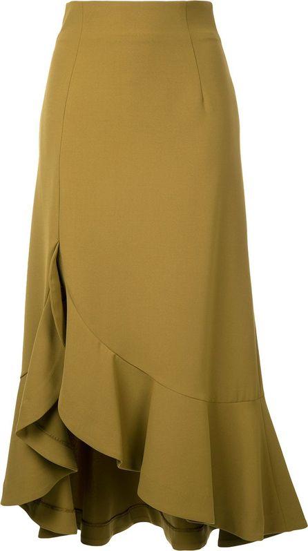 G.V.G.V. Cady ruffled skirt