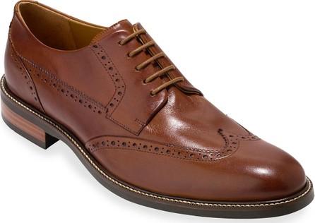 Cole Haan Warren Leather Wing-Tip Oxford, British Tan