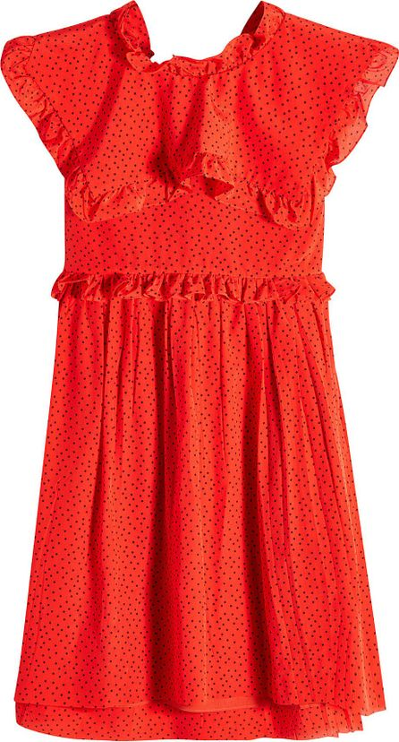 Balenciaga Printed Silk Chiffon Mini Dress