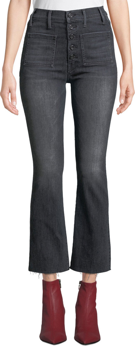 MOTHER The Patch Pocket Hustler Frayed Boot-Cut Jeans