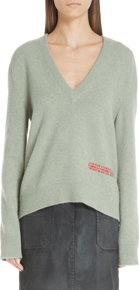 Calvin Klein 205W39NYC Logo Embroidered Wool & Cotton Sweater