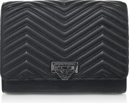 Emporio Armani Quilted Eco-Leather Medium Shoulder Bag