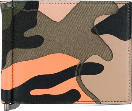 Valentino Valentino Garavani cut-out camouflage wallet