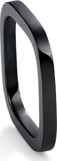 GINETTE NY TV Black Ceramic Ring, Size 6