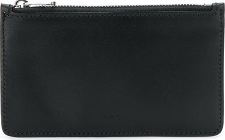 A.P.C. Logo embossed cardholder wallet