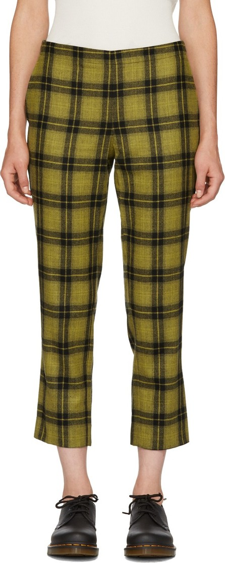 6397 Yellow Plaid Pull-On Trousers