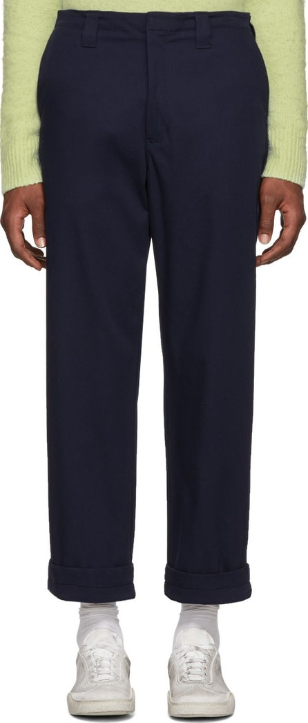 Acne Studios Navy Astym New Trousers