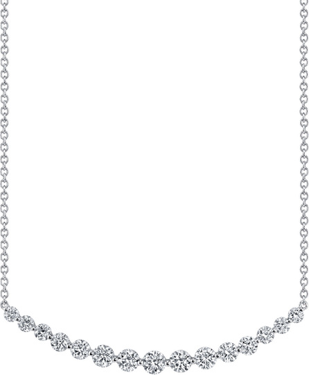 Anita Ko 18k White Gold Crescent Diamond Necklace