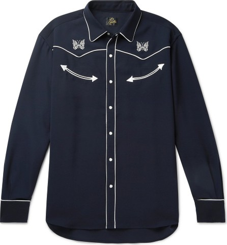 Needles Embroidered Piped Twill Shirt