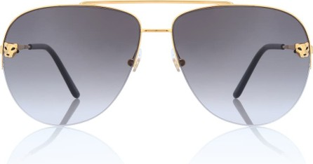 Cartier Panthère de Cartier aviator sunglasses