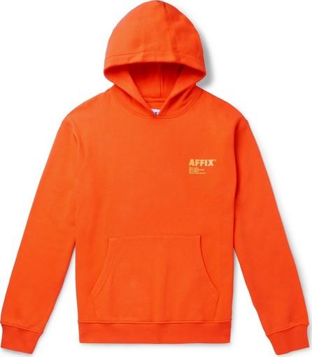 Affix Logo-Print Fleece-Back Cotton-Jersey Hoodie