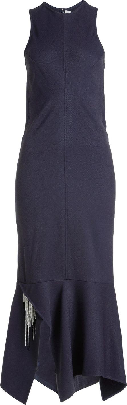 Victoria Beckham Asymmetric Dress with Chain Embellishment