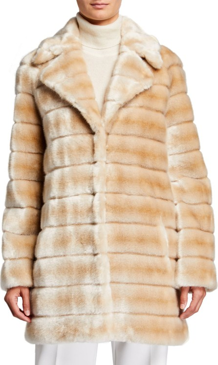 Faz Not Fur Oh My Deer Faux Fur Coat  Ivory