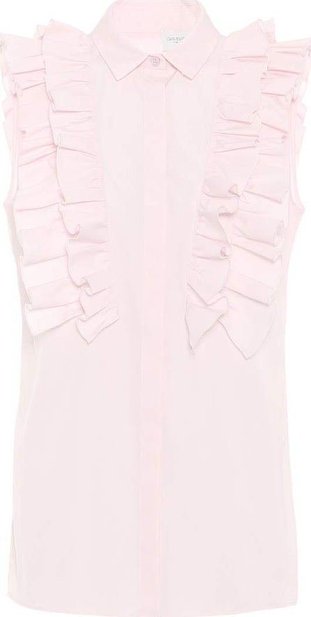 Giambattista Valli Ruffled cotton blouse