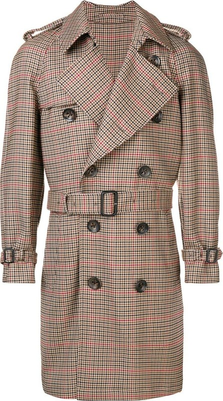 Gabriele Pasini Double breasted trench coat