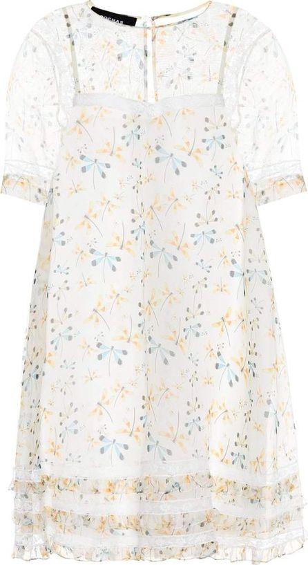 ROCHAS Lace-trimmed silk dress