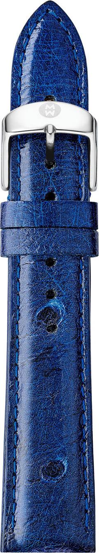 MICHELE 18mm Ostrich Strap in Midnight Blue