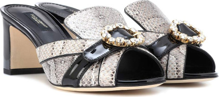Dolce & Gabbana Snakeskin and leather mules