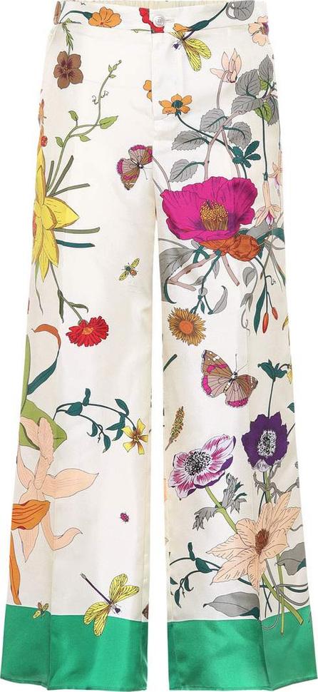 Gucci Floral-printed silk pants