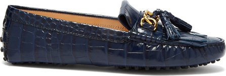 Tod's Gommini crocodile-effect leather loafers