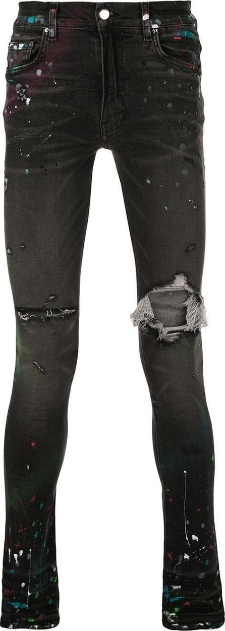 Amiri Paint splatter distressed jeans