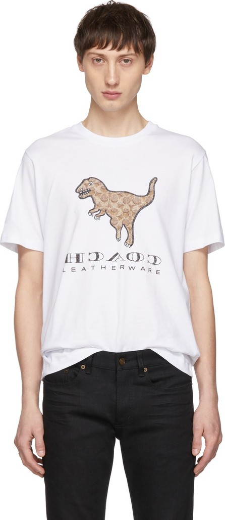 COACH 1941 White Signature Rexy Sticker T-Shirt