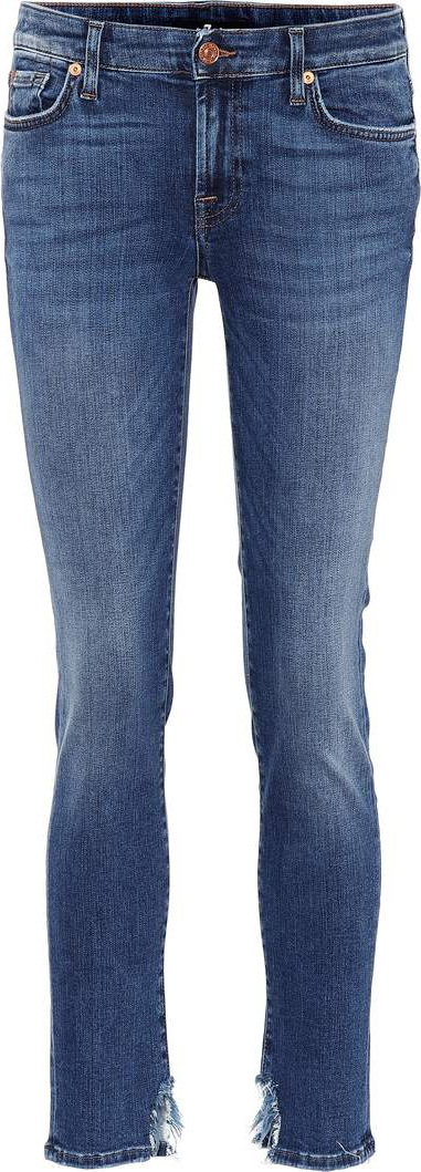 7 For All Mankind Pyper Crop Slim Illusion mid-rise jeans