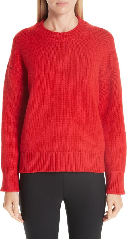 Mansur Gavriel Rib Trim Cashmere Sweater
