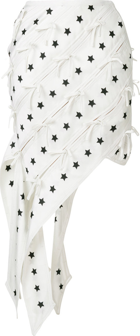 Self Portrait Star print asymmetric skirt