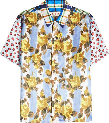 Marni Printed Shirt with Silk
