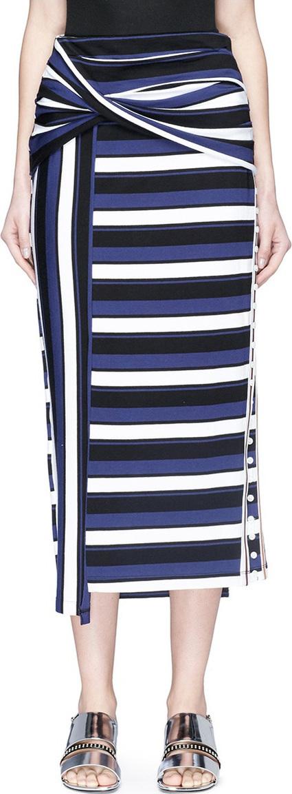 3.1 Phillip Lim Twist stripe wrap maxi skirt