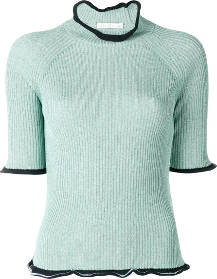 Golden Goose Deluxe Brand Ribbed frill-trim sweater