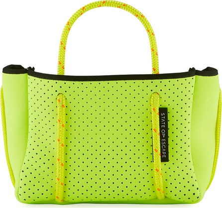 State of Escape Perforated Neoprene Small Crossbody Bag, Bright Yellow