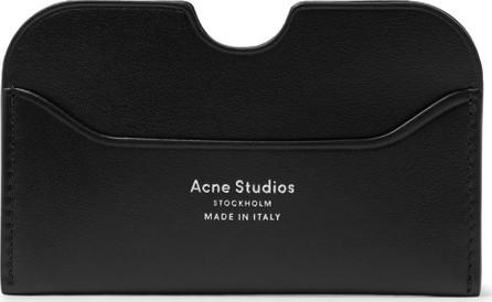 Acne Studios Elmas Logo-Print Leather Cardholder