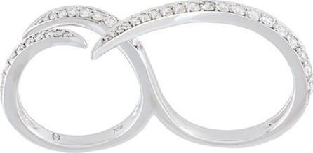 Gisele For Eshvi Encrusted 18kt white gold ring