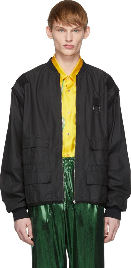 Gucci Black Grosgrain Detail Jacket