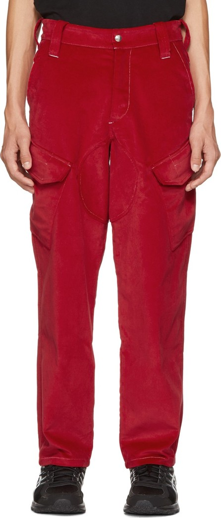 Affix Red Velvet Service Pants