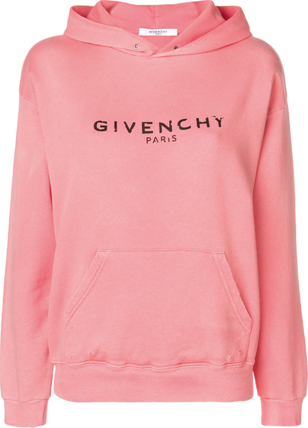 Givenchy Blurred Givenchy Paris print hoodie