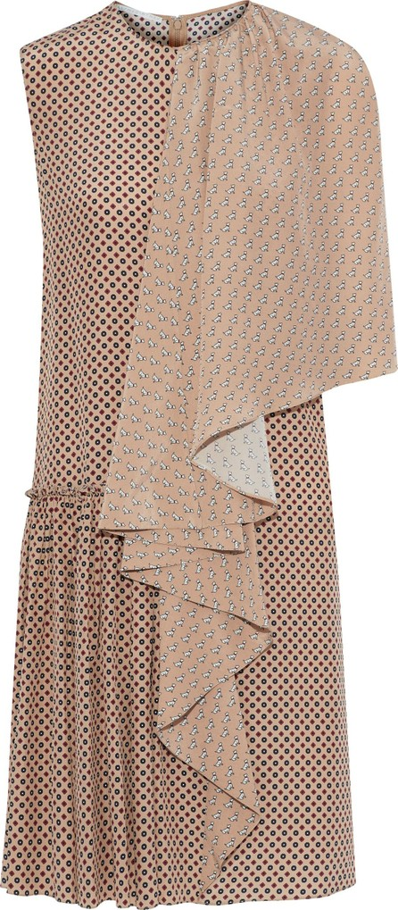 Stella McCartney Draped printed silk dress