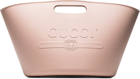 Gucci Pink embossed rubber beach bag