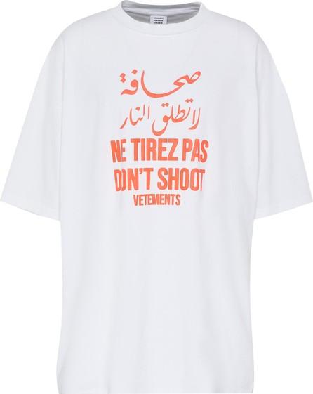 Vetements Don't Shoot' Slogan T-shirt